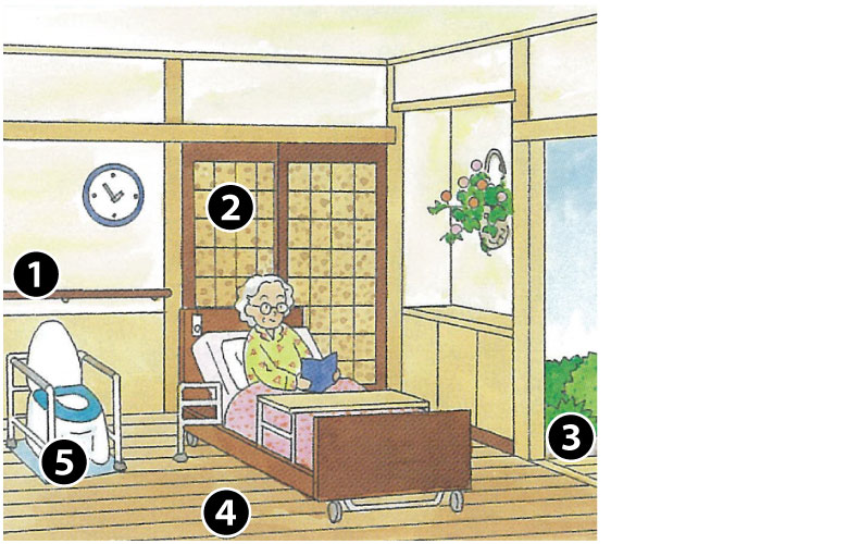 介護保険使える寝室周りの改修工事